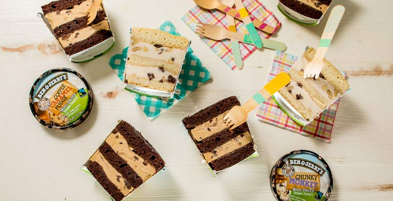 Ben & Jerry's Vegan Layered Pint Cake