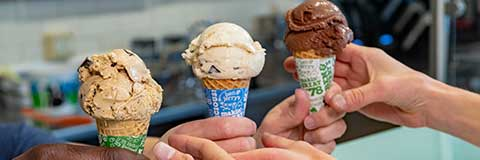 Picture of Ice Cream Cones at a Ben & Jerry's Scoop Shop