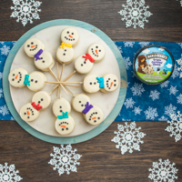 Recipe: Ice Cream Snowmen-wiches